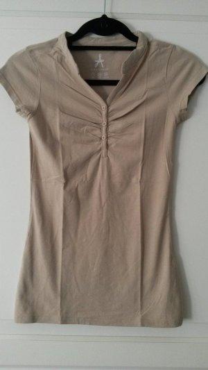 beiges / hellbraunes T-Shirt