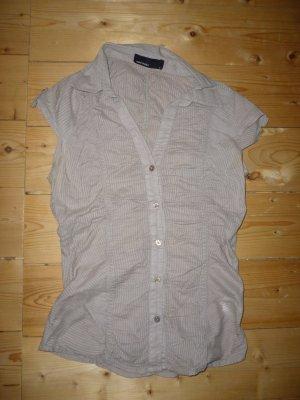 Beiges Hemd kurzärmlig