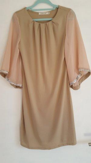Sequin Dress camel-beige polyester