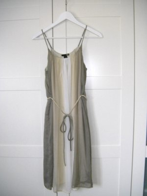 beiges Kleid aus Chiffon mit Spaghettiträgern, H&M, Gr. 34/36