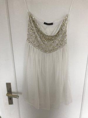 Beiges Kleid mit Pailletten
