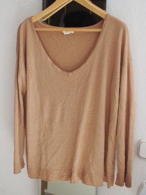 Beiges Langarm Basic Oberteil von H&M Pullover