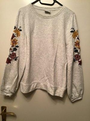 Beiges Only Sweatshirt mit Blumen Gr. M