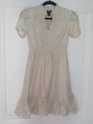 Beiges romanitsches Kleid von H&M