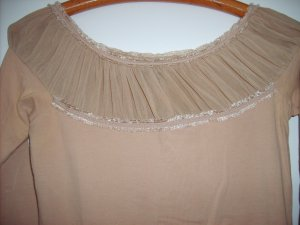 Beiges Stretch Top von MANGO