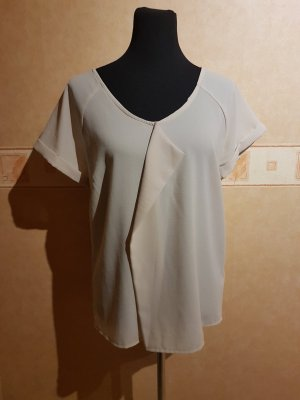 Beiges T-Shirt - Oversize - Gr.40 - TOP
