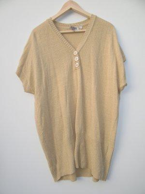 beiges T-Shirt Vintage Retro gestrickt Gr. XL oversize