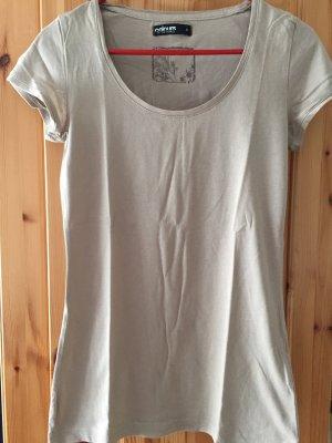 Beiges T-Shirt von Takko in Größe S
