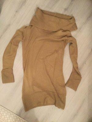 Robe en laine beige-chameau