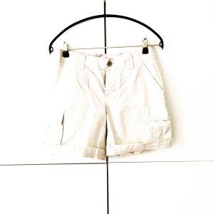 beigfarbene baumwoll shorts