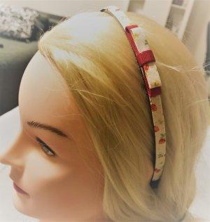 Beim Einkauf über 30 € bei mir * gibt´s einen Artikel unter 10 € gratis dazu * niedlicher Haarreif rot bunt creme Erdbeere Erdbeeren Früchte Rockabilly Reif Charleston Vintage Retro Style Haarschmuck Kopfschmuck mit Schleife