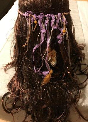 Haarband veelkleurig Leer