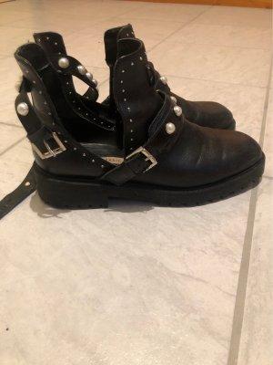 Zara Ankle Boots black-white