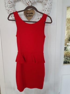 Zara Trafaluc Peplum Dress red