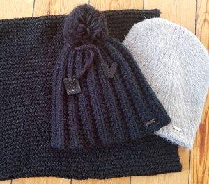 Bekleidungspaket Accessoires Set 3 Teile H&M Asos Winter Loop Schal Mütze Bommel Strickmütze Beanie