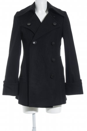 Belen Recio Heavy Pea Coat black casual look