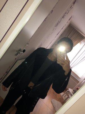 Zara Giacca in pelle nero