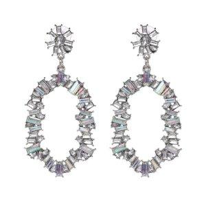 Zara Statement Earrings silver-colored-light grey