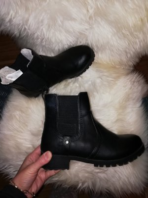 H&M Chelsea Boots black-natural white