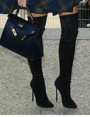 Zara Kniehoge laarzen zwart
