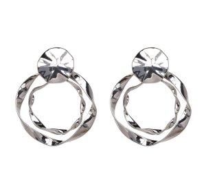 Zara Silver Earrings silver-colored-light grey