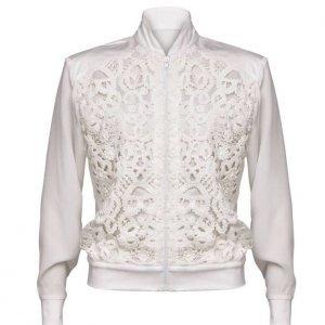 Belier Blusenjacke weiß Eleganz-Look