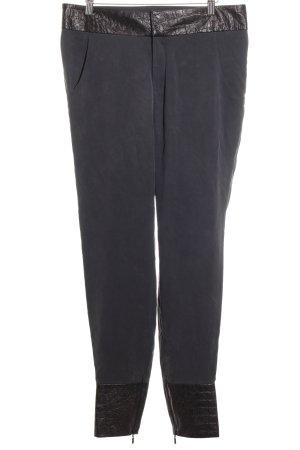 Belier Pantalone a vita alta marrone scuro-grigio scuro effetto bagnato