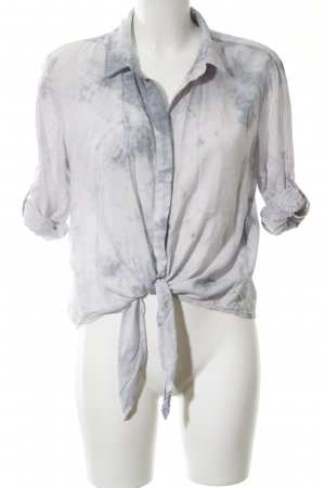 Bella Dahl Wraparound Blouse light grey-slate-gray batik pattern casual look