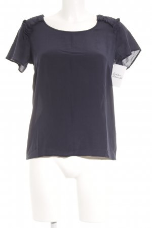 Bella jones Kurzarm-Bluse dunkelblau Business-Look