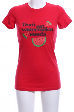BELLA T-Shirt red-black themed print casual look
