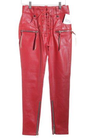 BeLLanni Lederhose rot Street-Fashion-Look
