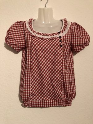 Camicia rosso scuro-bianco
