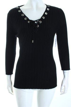 Belldini Rippshirt schwarz Casual-Look