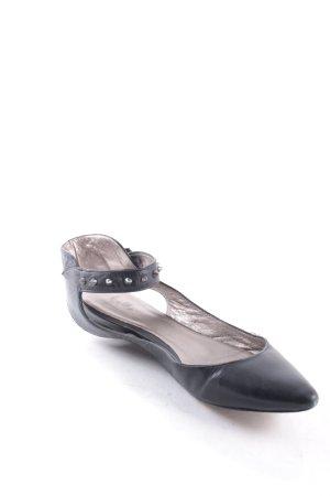Belle by sigerson morrison Ballerinas mit Spitze schwarz Biker-Look