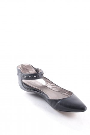 Belle by Sigerson Morrisson Ballerinas with Toecap black biker look