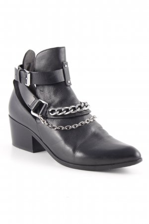 Belle by Sigerson Morrisson Cut Out Booties black biker look