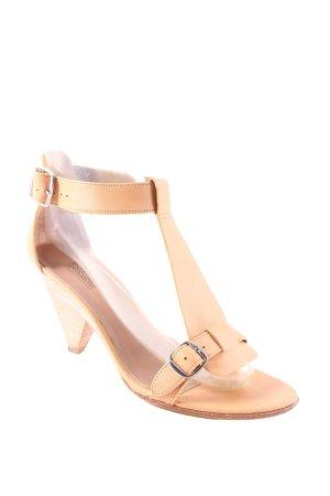 Belle by Sigerson Morrisson Sandalo con tacco alto e lacci a T beige elegante