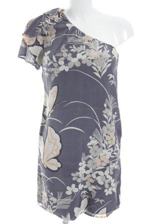 Belle One-Shoulder-Kleid Blumenmuster klassischer Stil