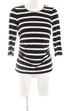 Belle Vere Gestreept shirt zwart-wit gestreept patroon casual uitstraling