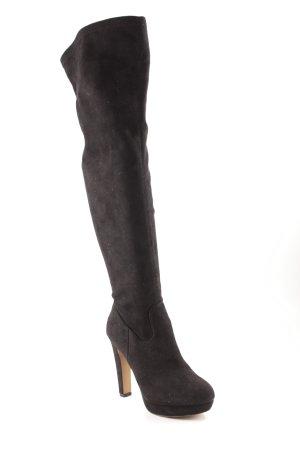 Belle Women Overknees schwarz schlichter Stil