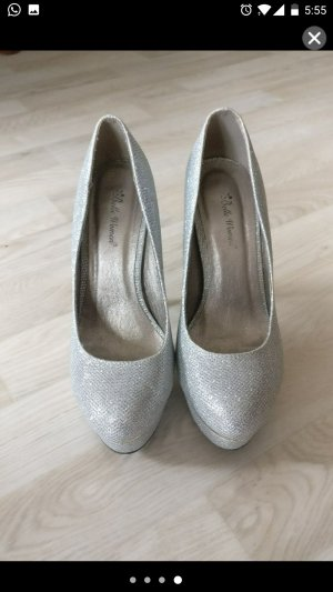 Belle Women Tacones con plataforma color plata
