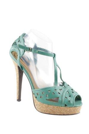 Belle Women Sandalo con cinturino e tacco alto verde stile stravagante