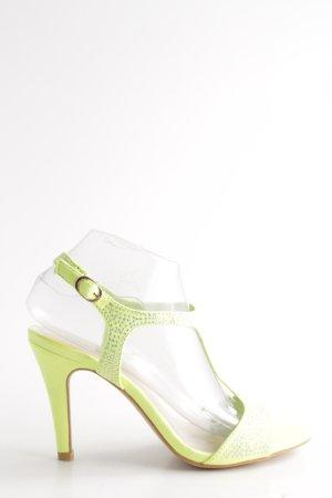 Belle Women Riemchenpumps grün Elegant