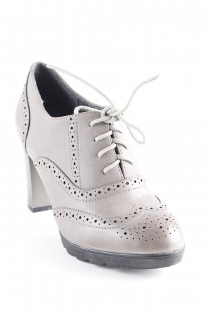 Belle Women Zapatos brogue marrón grisáceo look casual