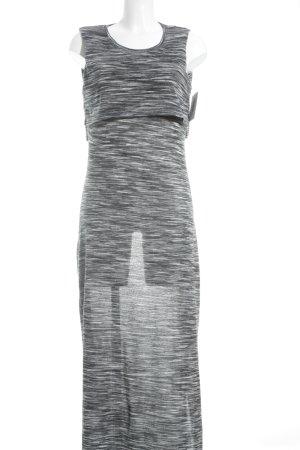 Bellfield Jerseykleid weiß-grau meliert Lagen-Look