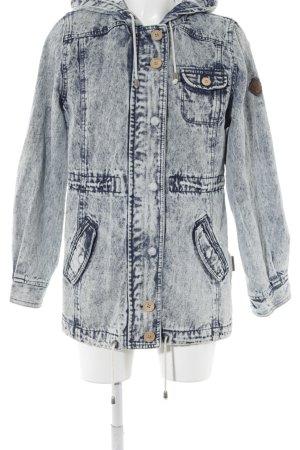 Bellfield Manteau à capuche bleu azur-bleu foncé Aspect de jeans
