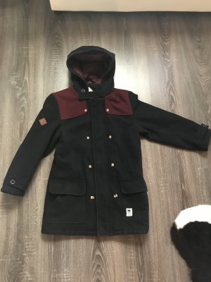 Bellfield Trench blu scuro-bordeaux