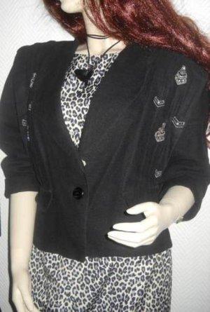 Bellissima Boyfriend Blazer Vintage Jacke schwarz Military XS S H M 34 36 38 rar