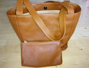 Bellissima Shopper cognac-coloured leather