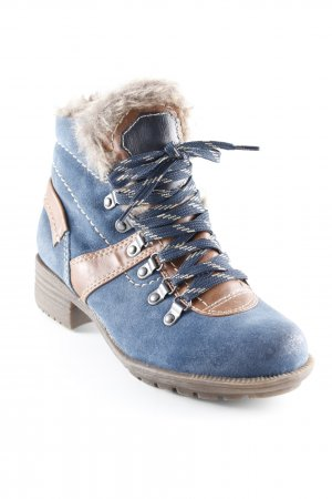 Bellissima Short Boots steel blue-brown casual look